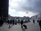 ナポリの駅前