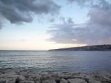 地中海を眺めるサンタ・ルチアの海